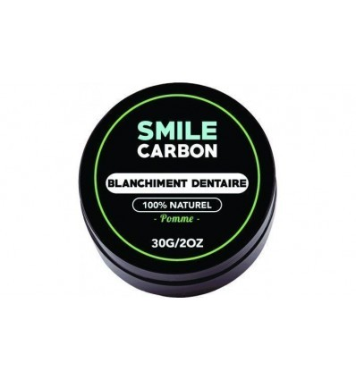 Charbon Actif - Blanchisseur de dents naturel Goût Pomme 30gr - SMILE Carbon